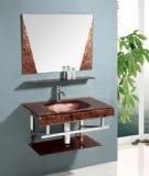 Glass Cabinet & Basin